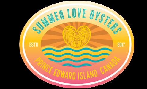 logo summer love oysters Rustico Bay ile-du-Prince-Édouard Canada